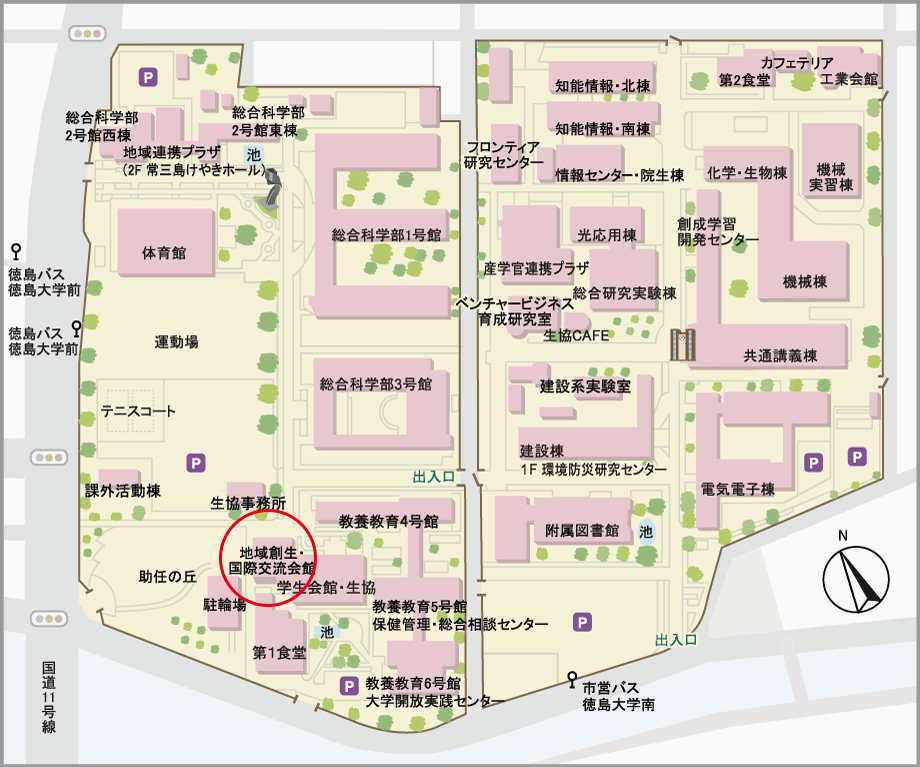 常三島キャンパスマップ